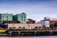 I stadens centrum färgrika Eureka arkivfoto