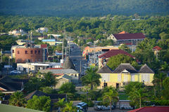 I stadens centrum Falmouth, Jamaica Royaltyfri Fotografi