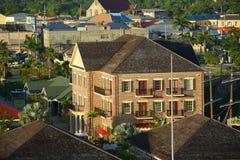 I stadens centrum Falmouth, Jamaica Royaltyfri Foto