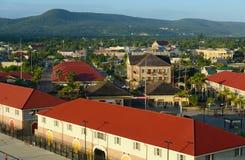 I stadens centrum Falmouth, Jamaica Arkivbild