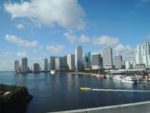 i stadens centrum florida hög miami för byggnader stigning arkivfoto