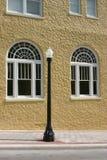 i stadens centrum florida lakeland lampgata royaltyfri foto