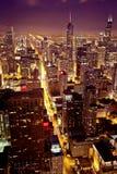 I stadens centrum flyg- sikt av Chicago Royaltyfria Foton