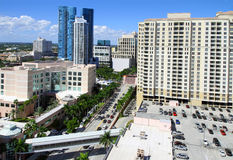 I stadens centrum Fort Lauderdale arkivfoton