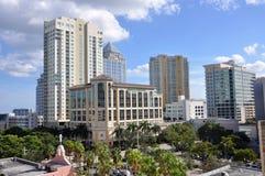 I stadens centrum Fort Lauderdale, Florida Arkivbild
