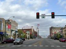 I stadens centrum Fort Smith, AR huvudsaklig gata arkivbilder