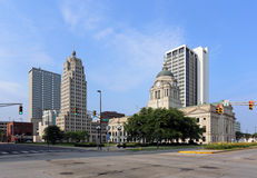 I stadens centrum Fort Wayne Fotografering för Bildbyråer