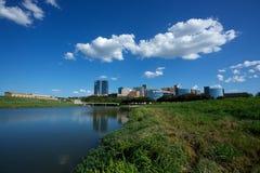 I stadens centrum Fort Worth Texas Arkivfoton