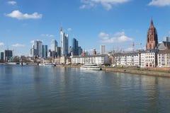 I stadens centrum Frankfurt Tyskland Arkivfoto