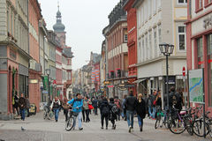 I stadens centrum gamla Heidelberg, Tyskland Royaltyfria Foton