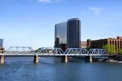 I stadens centrum Grand Rapids Arkivbilder