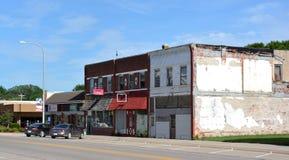 I stadens centrum Griswold Iowa Royaltyfri Foto