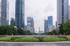 I stadens centrum Guangzhou, Kina arkivfoto