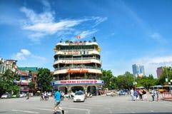 i stadens centrum hanoi royaltyfri bild