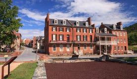 I stadens centrum Harpersfärja, West Virginia Royaltyfri Bild