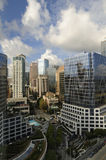 i stadens centrum highrise vancouver Royaltyfria Bilder