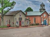 I stadens centrum historiska Roscoe Village royaltyfri foto