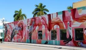 I stadens centrum Hollywood vägg- projekt arkivfoton