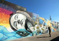 I stadens centrum Hollywood vägg- projekt royaltyfri foto