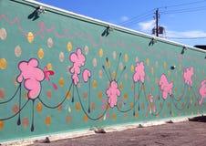 I stadens centrum Hollywood vägg- projekt royaltyfria bilder