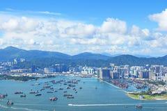 i stadens centrum Hong Kong arkivbilder