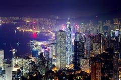 I stadens centrum Hong Kong arkivfoton