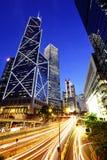 i stadens centrum Hong Kong fotografering för bildbyråer