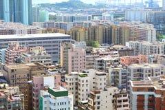 i stadens centrum Hong Kong för dag tid Arkivfoto