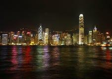 i stadens centrum Hong Kong horisont Royaltyfria Bilder