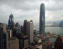 i stadens centrum Hong Kong horisont Royaltyfri Foto