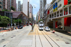 I stadens centrum Hong Kong: North Point royaltyfria foton