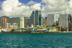 I stadens centrum Honolulu arkivfoto