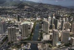 I stadens centrum Honolulu, Hawaii Royaltyfri Foto