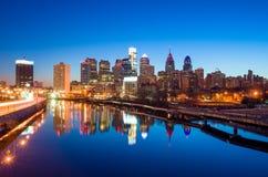 I stadens centrum horisont av Philadelphia, Pennsylvania. Arkivfoton