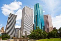 i stadens centrum houston för cityscape horisont texas Arkivfoto