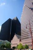 i stadens centrum houston horisont arkivfoto