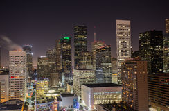 I stadens centrum Houston Skyline Arkivbilder