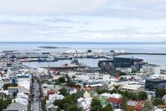 i stadens centrum iceland reykjavik Royaltyfri Bild