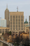 I stadens centrum Indianapolis - Arkivfoton