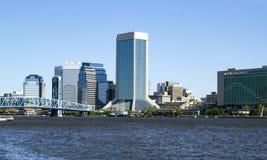 I stadens centrum Jacksonville, Florida horisont Arkivbild