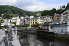 I stadens centrum Karlovy varierar Fotografering för Bildbyråer