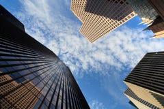 i stadens centrum kontor för byggnader Arkivbild