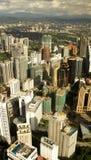 i stadens centrum Kuala Lumpur horisont royaltyfri bild