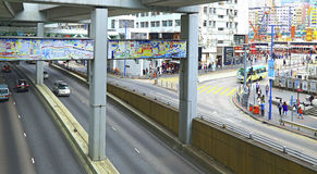 I stadens centrum kwuntång, Hong Kong Royaltyfri Foto
