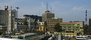 I stadens centrum Lagos arkivbild