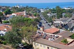 I stadens centrum Laguna Beach, Kalifornien Arkivbild