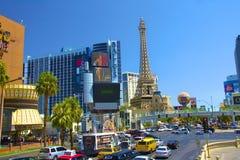 I stadens centrum Las Vegas Arkivfoto