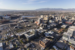 I stadens centrum Las Vegas antenn Arkivbilder