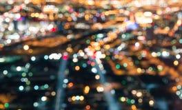 I stadens centrum Las Vegas - Defocused ljusbokeh Royaltyfria Foton