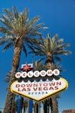 I stadens centrum Las Vegas undertecknar Arkivbild